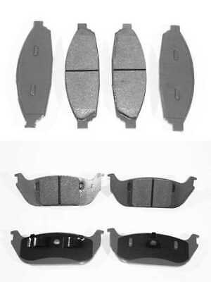 Front & Rear Set of Ceramic Disc Brake Pads fits 2003 2004 2005 Lincoln Aviator