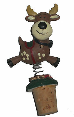 Christmas Reindeer Jingle Top Bottle Rocker for Wines and Other Liquor