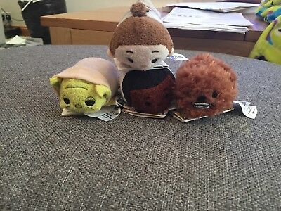 Disney Store Star Wars Mini Tsums X 4 Brand New With Tags