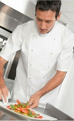Chef's short-sleeved Tunic/Jacket - *High Quality* - Simon Jersey Brand