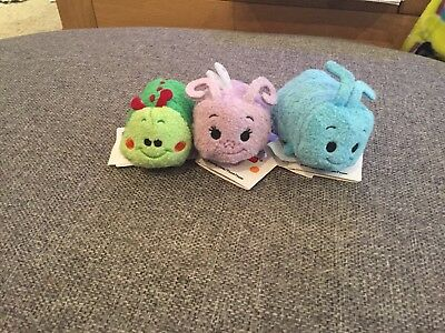 Disney Store Bugs Life Mini Tsums X 3 Brand New With Tags