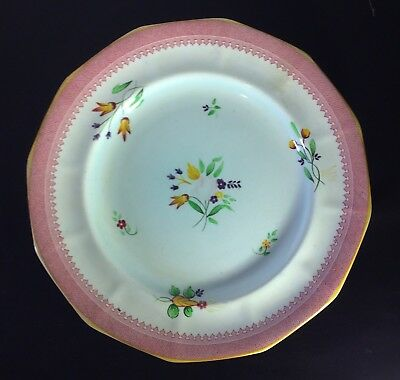 Calyz Ware Hand Painted Plate 2087 Adams England Pink Floral