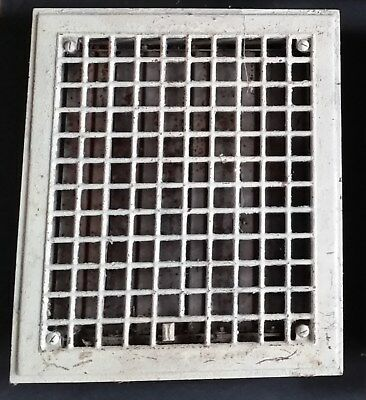 Antique Floor Register Grate, Louvered