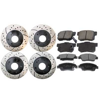 Front & Rear Performance Rotors & Ceramic Brake Pads With Lifetime Warranty