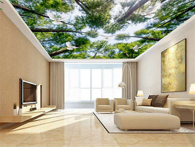 Giant Secure Leaf 3D Ceiling Mural Full Wall Photo Wallpaper Print Home Decor