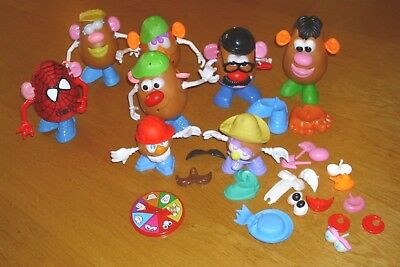 mr &  mrs potato head large bundle 8 heads Spiderman