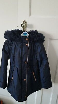 34b376a9f Girls Beautiful Navy Blue TED BAKER coat with rose gold hardware Age 10.