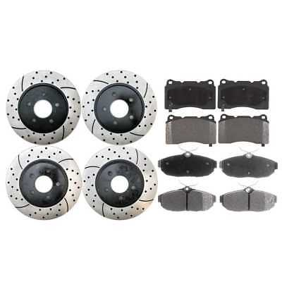 Front & Rear Performance Rotors & Semi Metallic Pads With Lifetime Warranty