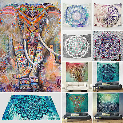 Indian Tapestry Large Elephant Wall Hanging Mandala Hippie Bedspread Beach Towel