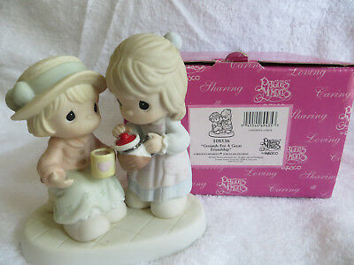 "Precious Moments #108536 ""Grounds For a Great Friendship"" figurine NEW"