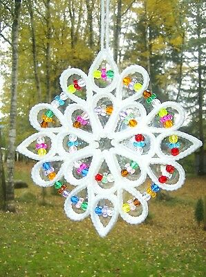 "Handcrafted ""white Star Style Suncatcher"""