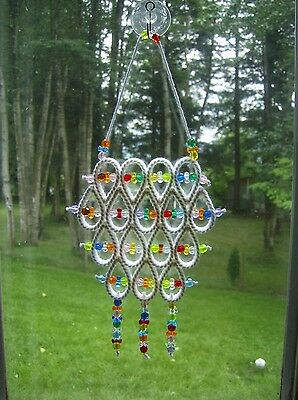 "Handcrafted ""white Style Suncatcher"""