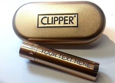 CLIPPER Engraved ROSE GOLD Personalised Lighter Birthday Christmas lady Gift G