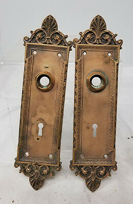 Antique Vintage Bronze Copper Door Handle Plates Hardware Pull Caldwell Style