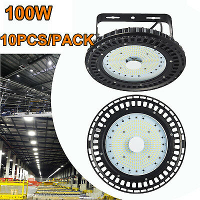 10X 100W UFO LED High Bay Light Warehouse Industrial Lamp Commercial Shed Light