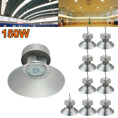 10X 150W LED High Bay Light Super Bright Fixture Warehouse Shop Industry Lamp