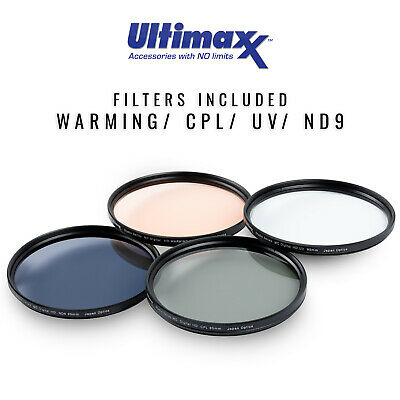 4 Piece 95mm Multi Coated HD Filter Kit (UV, CPL, Warming, FLD) by ULTIMAXX New