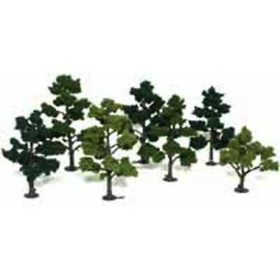 "Woodland Scenics TR1103 Deciduous Tree Kit 5""-7"" (7) Light, Med & Dark Green"