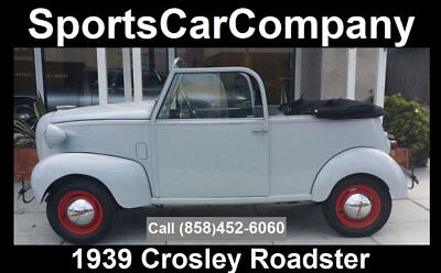 1939 Crosley Roadster 1939 Crosley Roadster 1939 Crosley Roadster Acquired From Collection Superb In+Out Now Only $24,998!