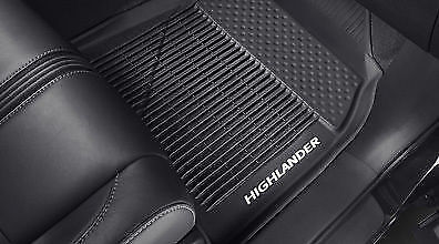 GENUINE TOYOTA 2014-2018 Highlander All Weather Floor Liners Mats w/ logo OEM