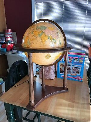 Heirloom 16 Inch Globe in Fine Wooden Floor Base