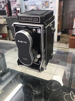 Vintage Mamiyaflex Model C Professional Camera, TLR, Seiko Japan