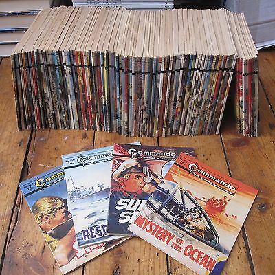 Commando Comics Job Lot Bundle of 95 Vintage Issues all in 1500s Listed Within