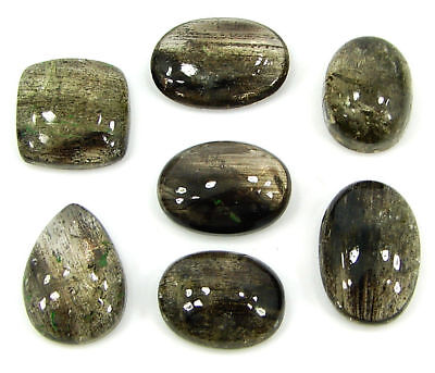 35.00 Ct Natural Scapolite Loose Cab Gemstone Wholesale Lot of 7 Pcs - 17527