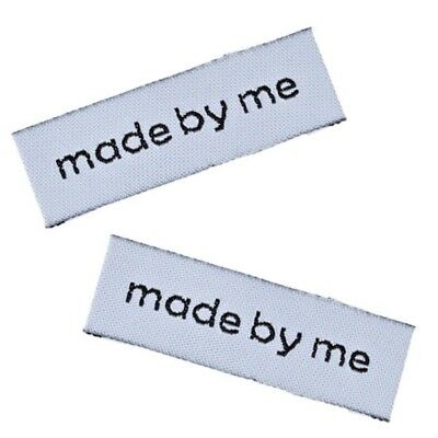 50x 'Made by Me' Sew On Labels hand made tags Craft Hobbies Sewing 6cm*1.5cm