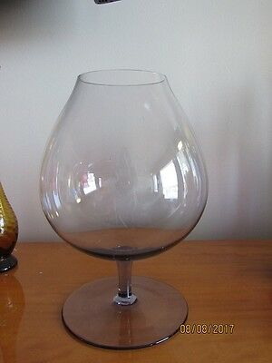Large Brandy Balloon Glass with Purple Tint