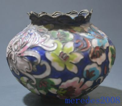 Blue Shades Chinese Colorful Antique Can