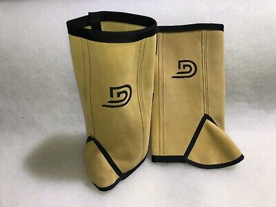 Leather Gaiters metal detecting(no metal)heavy duty, detectors,minelab, gold