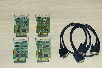 4 x Cisco WIC-1T 1-Port Serial WAN Interface Card w/ CAB-HD60-MMX3 DTE/DCE Cable