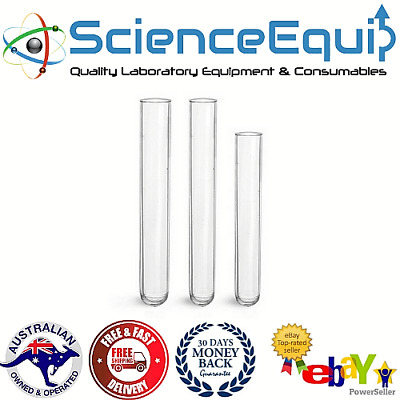 Test Tubes, Rimmed/Rimless,1-100 pcs, Premium Borosilicate Glass 18x150m (25ml)