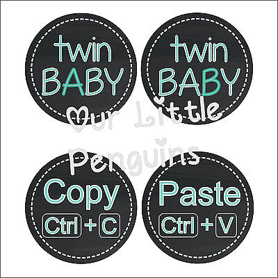 Personalised Baby Stickers, Milestone Stickers_Twin_001