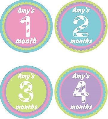 Personalised Monthly Baby Stickers, Milestone Stickers, Baby Shower Gift_G028