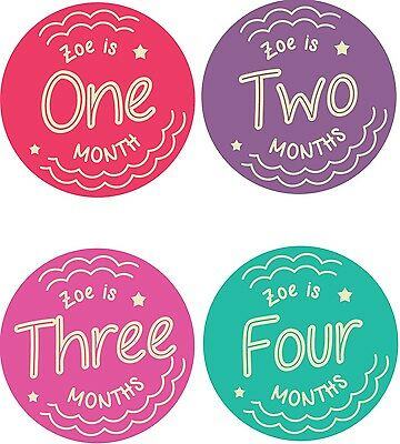 Personalised Monthly Baby Stickers, Milestone Stickers, Baby Shower Gift_G031