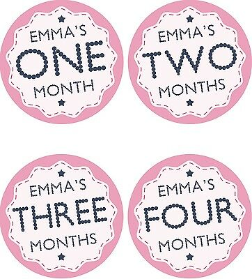 Personalised Monthly Baby Stickers, Milestone Stickers, Baby Shower Gift_G010