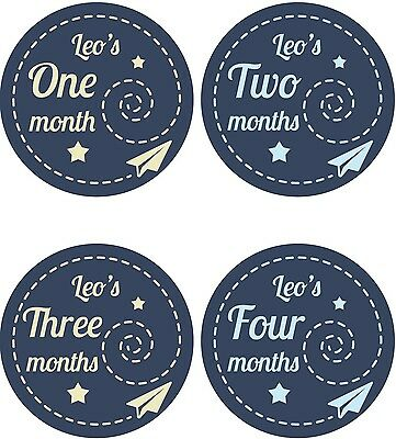 Personalised Monthly Baby Stickers, Milestone Stickers, Baby Shower Gift_B035