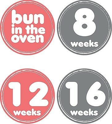 Personalised Weekly Pregnancy Stickers, Belly Stickers, Baby Bump Stickers_P003