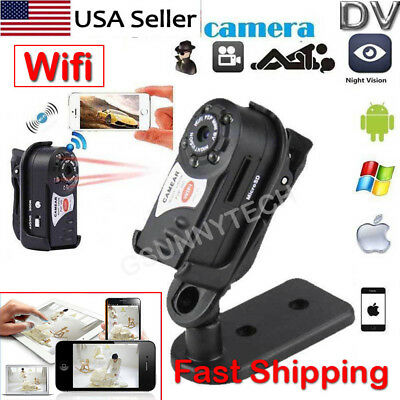 HD WiFi Mini Spy Camera P2P IP Portable Camera Indoor/Outdoor DV Hidden Security