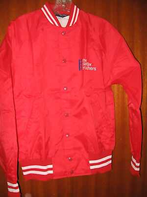 The Statler Brothers Red Jacket With Snap Buttons With White Fleece Inside Logo
