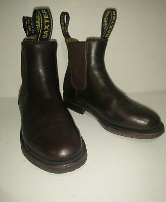 Kids BAXTER Riding Boots Size 3. Brown Pony Rider Exc Cond Horse Riding Boots