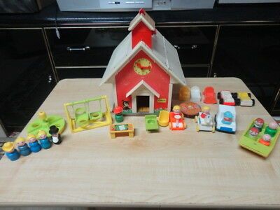 fisher price little people vintage school, vintage.1971 mixed lot