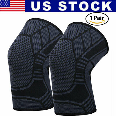 2X Knee Sleeve Compression Brace Support For Sport Joint Pain Arthritis Relief