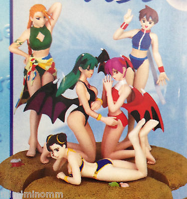 Set of 5 Capcom Character Summer Paradise Figure Morrigan Chun-Li Sakura JAPAN