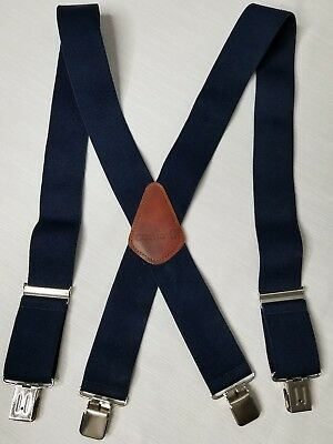 Carhartt Men's Navy Blue Utility Suspenders