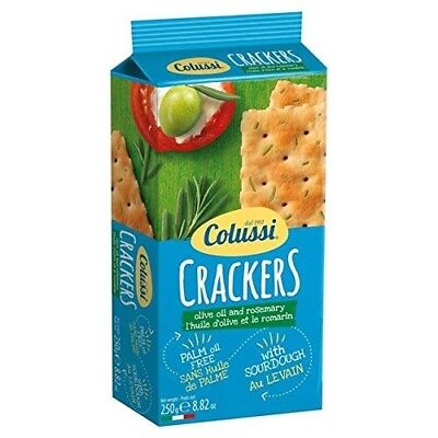 Colussi Rosemary Crackers - 250g (0.55lbs). Free Delivery