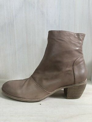 NEW Mollini 'Mentos' Cafe Coloured Leather Ankle Boots
