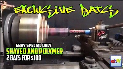 2 Bats for $100 Shaved Rolled + Polymer Slow/Fast Pitch Softball Bat Shaving